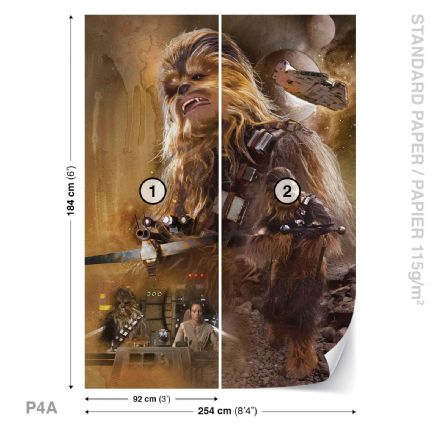 Star Wars Chewbacca wallpaper mural